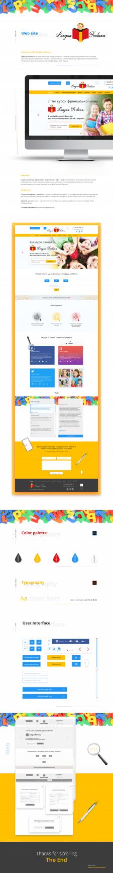 Веб-дизайн сайта для ASBL Lingua Fortuna