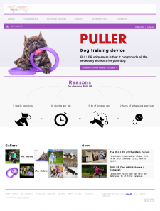 Puller TM promo site development