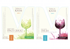 """Этикетка для вина ТМ """"VILLA KRIM"""""""