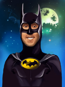 Портрет в стиле Бэтмена
