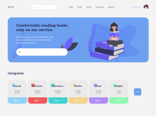 "Website concept ""bookS"""