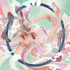 Digital illustration of zodiac Pisces