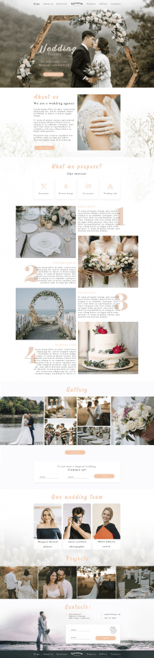 "Landing page - ""Wedding Factory"""