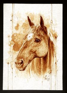 Лошадь, кофе
