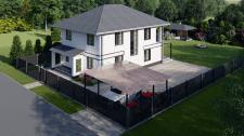 3Д визуализация загородного дома.