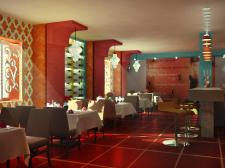 Інтер'єр кафе в іспанському стилі