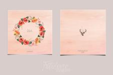 Дизайн Обложки Свадебной книги Акварель