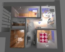 Квартира -= smart, 43 м2 на сім'ю з 3 людей