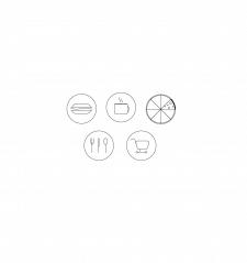 """Иконки с тематикой """"Карта еды"""""""