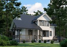 Визуализация дома в лесу №002