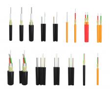 Образцы оптоволоконного кабеля для каталога.