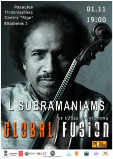 """Постер для джазовой программы """"Global Fusion"""""""
