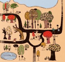40 дерев