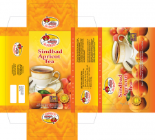 Упаковка для абрикосового чая