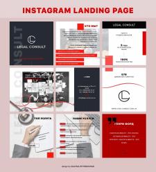 Дизайн для инстаграма лендинга