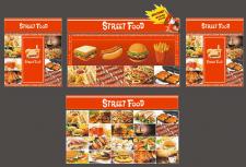Киоск Street food. Дизайн баннеров