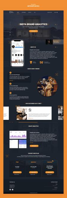 "Дизайн Landing Page ""Insta Brand Analytics"""