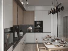 Дизайн и визуализация кухни-гостинной