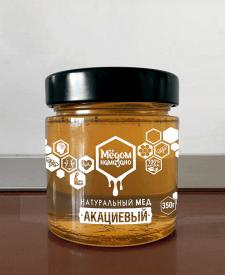 дизайн  для баночки с мёдом