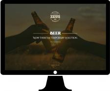 Промо-страница для хмельного напитка