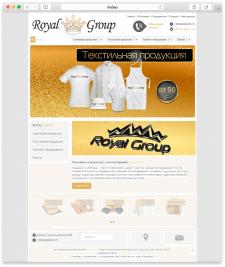 Сайт Рекламно-производственной фирмы Royal Group