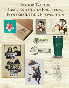 Vector Tracing Laser and Cut-in Engraving, Plotter