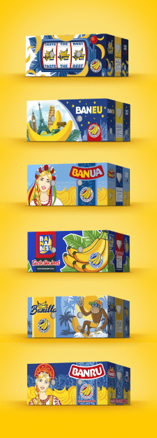 Дизайн ящиков для бананов