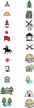Условные знаки для карты