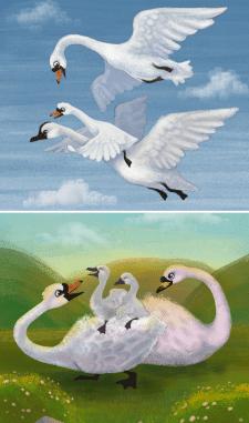 Иллюстрация детской книги.