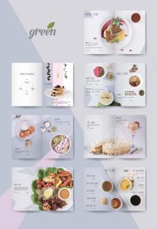 Дизайн меню для GREEN cafe