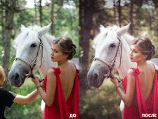 Пример цветокоррекции и ретуши До/После 10