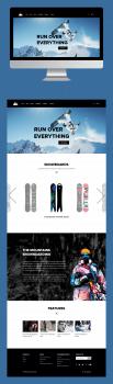 Дизайн интернет магазина сноубордов