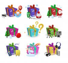 Иконки для категорий коробок сюрпризов