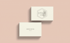 Dtour \ logo\ business card