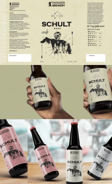 этикетка для линейки крафтового пива SCHULT