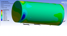 Конструкторские расчёты вакуумного бака в Ansys