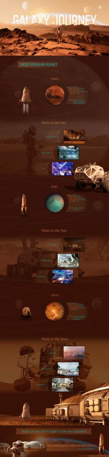 Galaxy Travel - дизайн лендинг. (Landing Page)