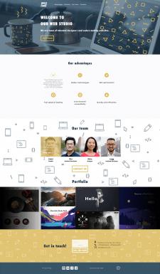 JustCodeIt. Макет сайта веб-студии