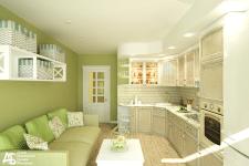 Кухня в стиле прованс (2 ракурс)
