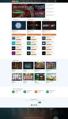 Дизайна каталога казино на светлом фоне