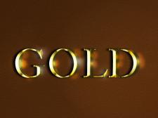 Логотип золотой