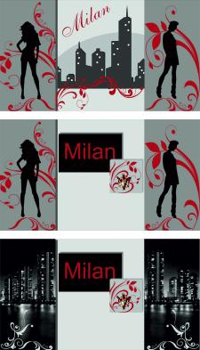 варианты оформления стены для бутика модной одежды