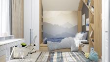 Современная комната для мальчика (10 м.кв)