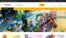 Сайт игрушек на CMS-Opencart