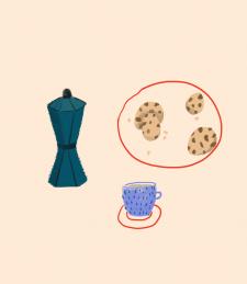 """иллюстрация """"завтрак"""""""
