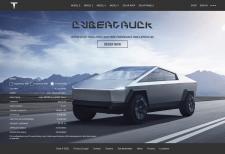 Редизайн сайта Tesla