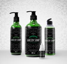 Дизайн этикетки для зеленого мыла