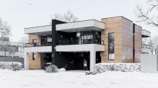 Визуализация Дуплекс дома (зимнее время года)