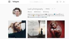 Раскрутка страницы Instagram популярному фотографу