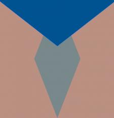 принт в персиково-сине-голубом тонах